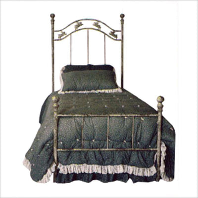 Standard Bed W/ Bunnies-Brass Bed-Jack and Jill Boutique