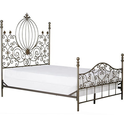 Standard Bed W/ Curls and Pumpkin-Brass Bed-Jack and Jill Boutique