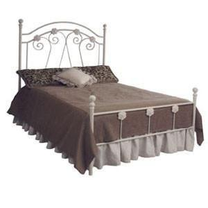 Standard Bed W/ Flowers-Brass Bed-Jack and Jill Boutique