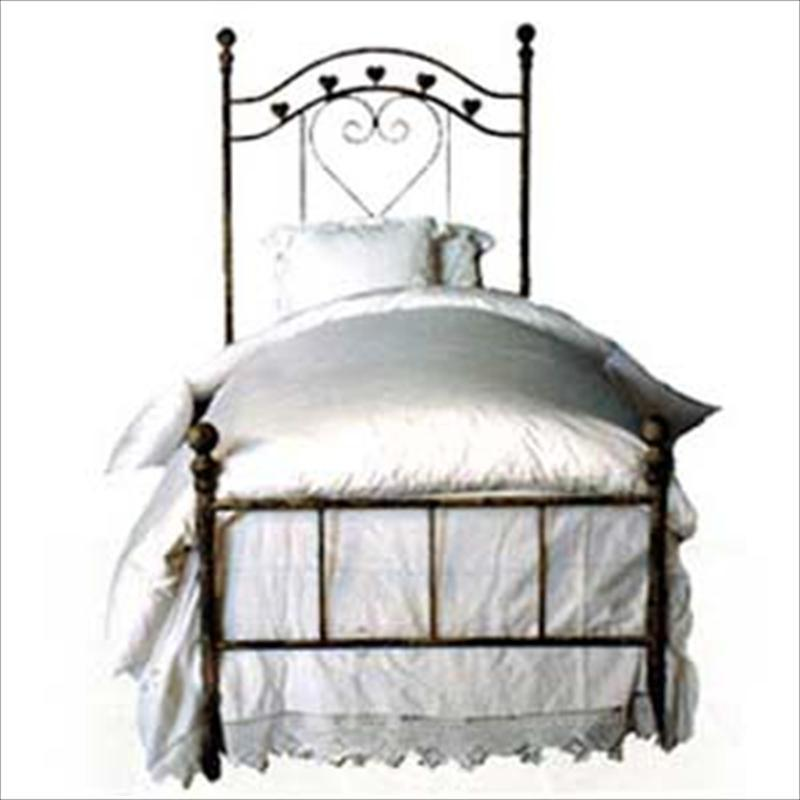 Standard Bed W/ Hearts-Brass Bed-Jack and Jill Boutique