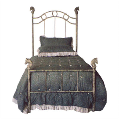 Standard Bed W/ Horses and Horseshoes-Brass Bed-Jack and Jill Boutique