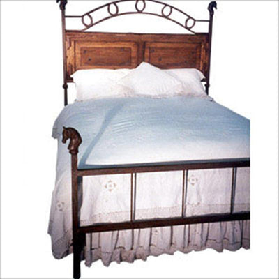 Standard Bed W/ Wood Headboard and Horses-Brass Bed-Default-Jack and Jill Boutique