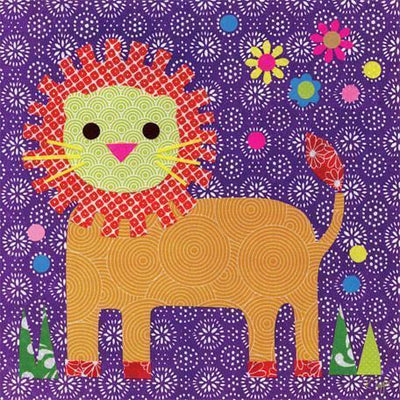 Starburst Lion | Canvas Wall Art-Canvas Wall Art-Jack and Jill Boutique