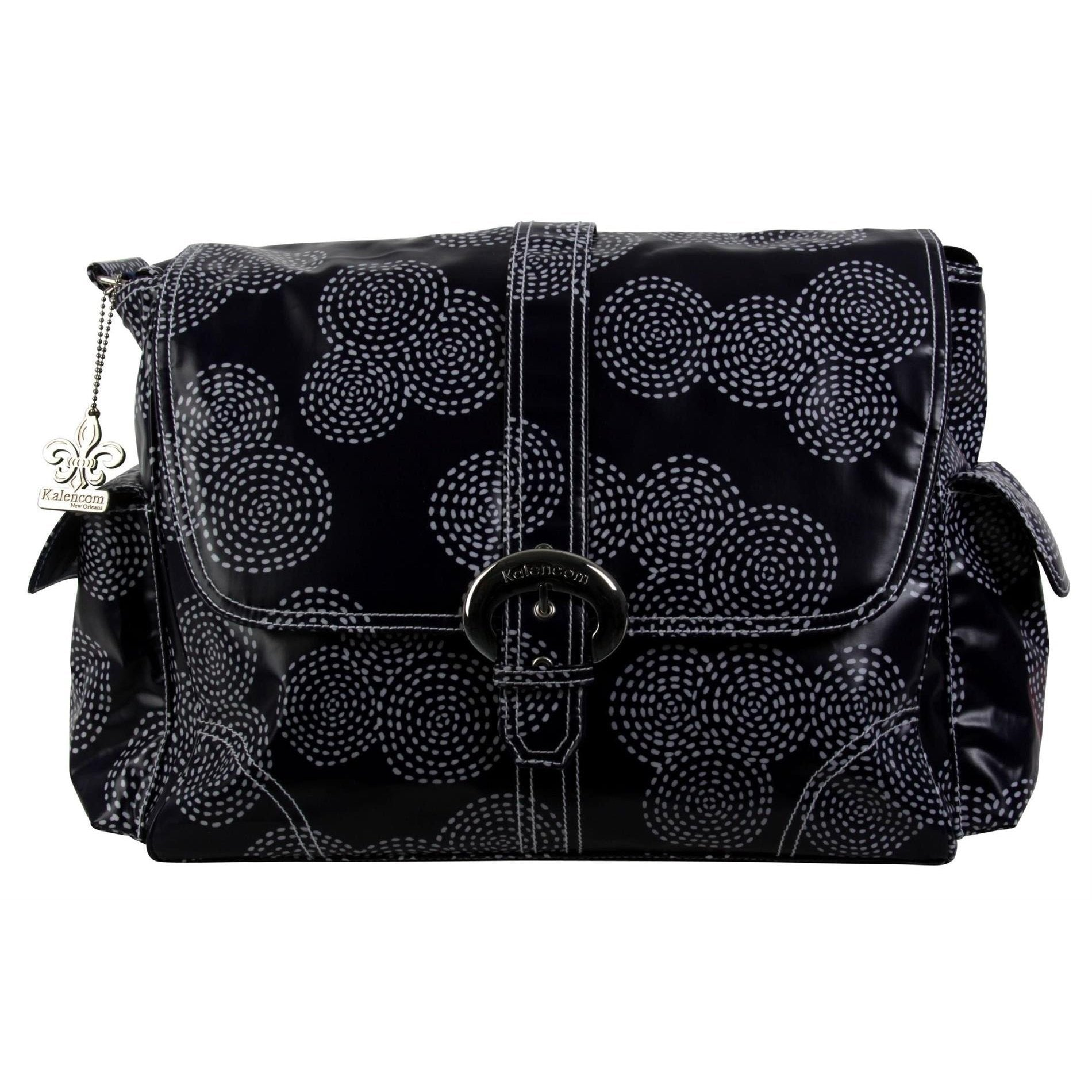 Stitches - Navy Matte Coated Buckle Diaper Bag | Style 2960 - Kalencom-Diaper Bags-Jack and Jill Boutique
