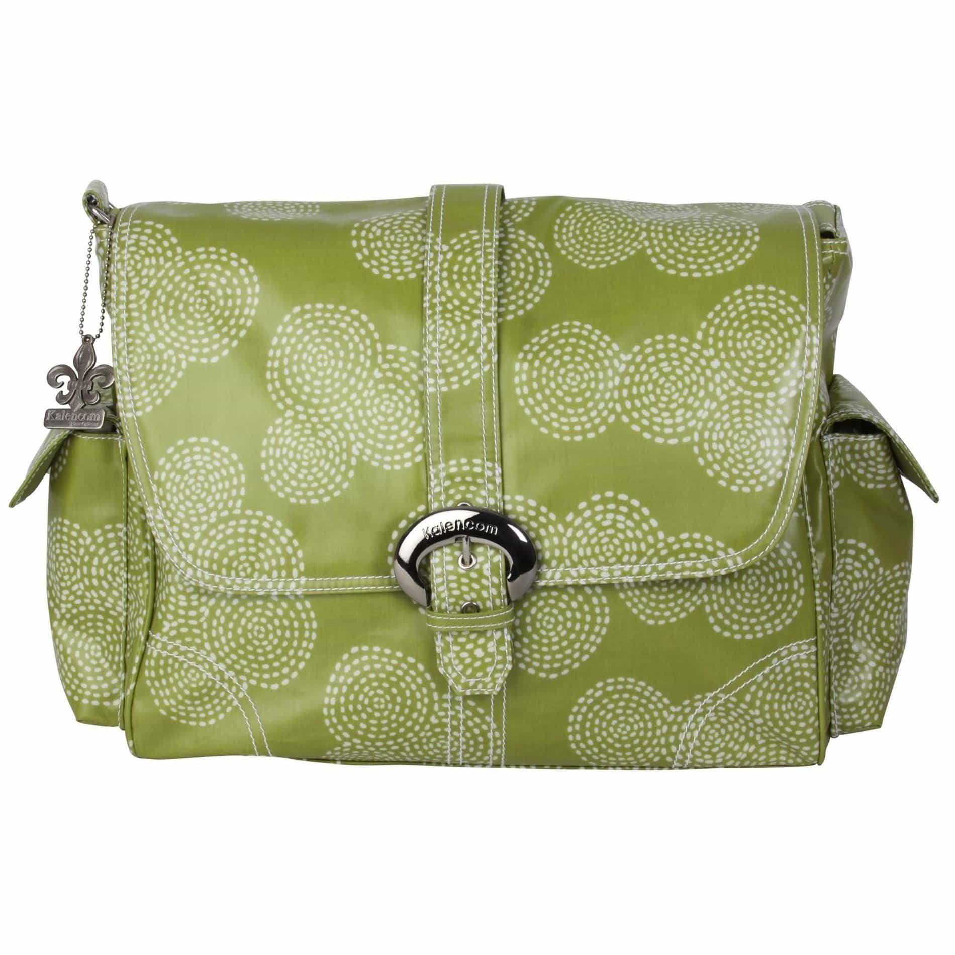 Stitches - Olive Matte Coated Buckle Diaper Bag | Style 2960 - Kalencom-Diaper Bags-Jack and Jill Boutique