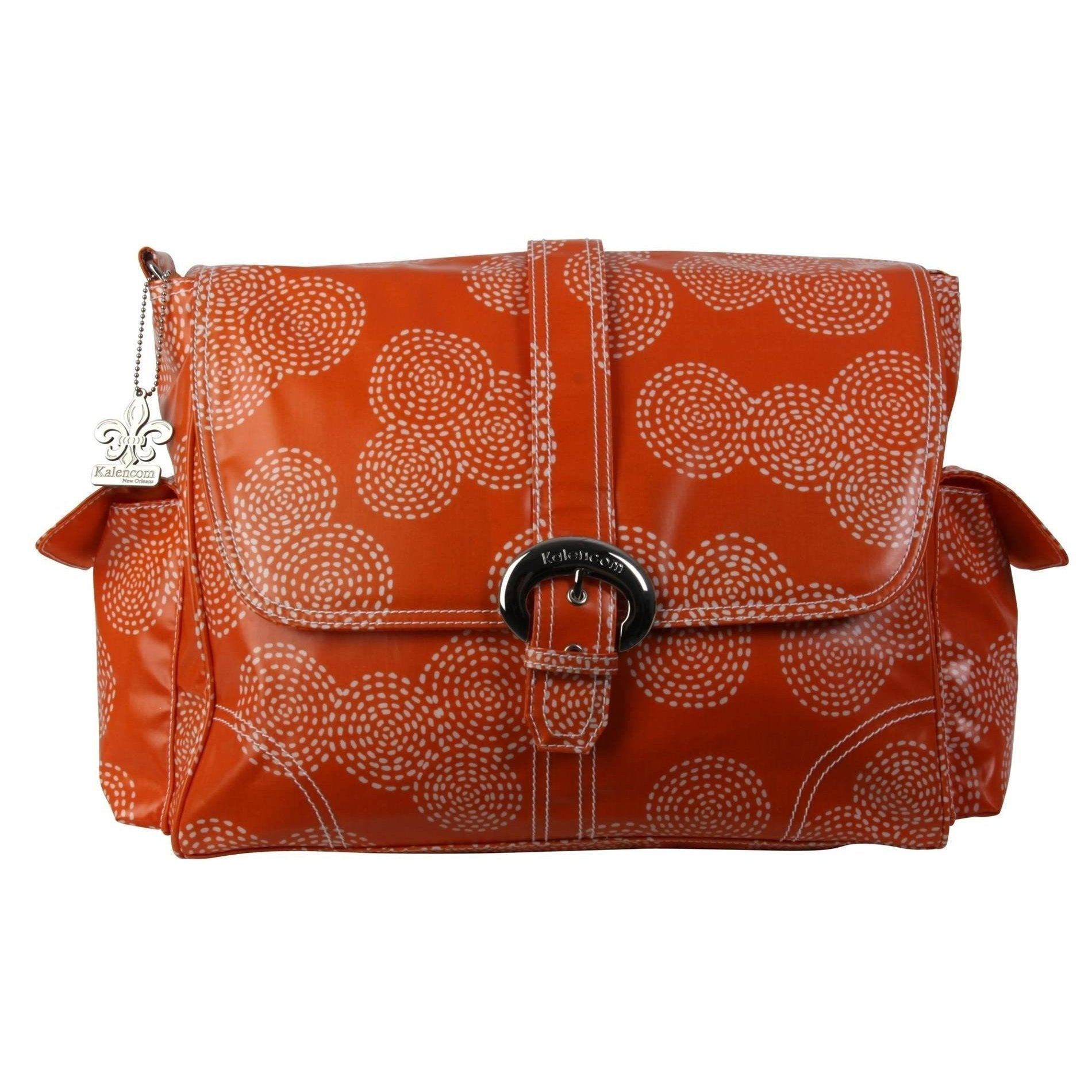 Stitches - Orange Matte Coated Buckle Diaper Bag | Style 2960 - Kalencom-Diaper Bags-Jack and Jill Boutique