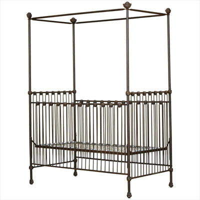 Straight Canopy Stationary Crib-Crib-Jack and Jill Boutique