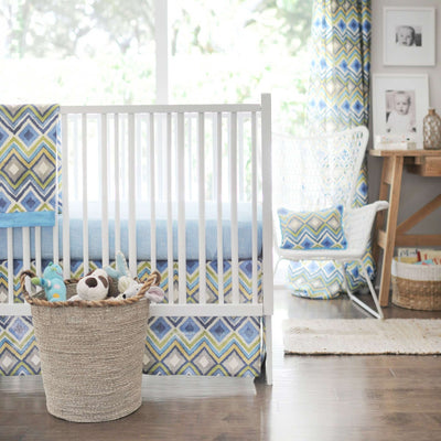 Street of Dreams Blue and Yellow Baby Bedding Set-Crib Bedding Set-Default-Jack and Jill Boutique