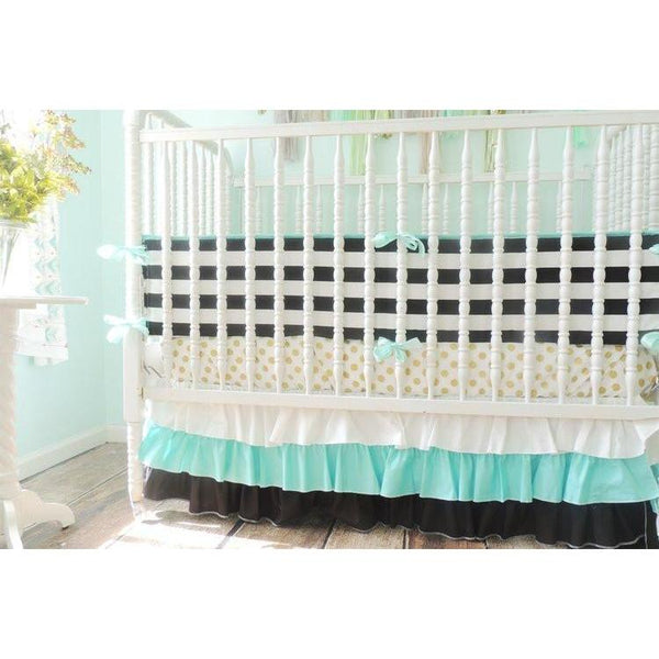 Striped Bumper Baby Bedding Black White Crib Bedding