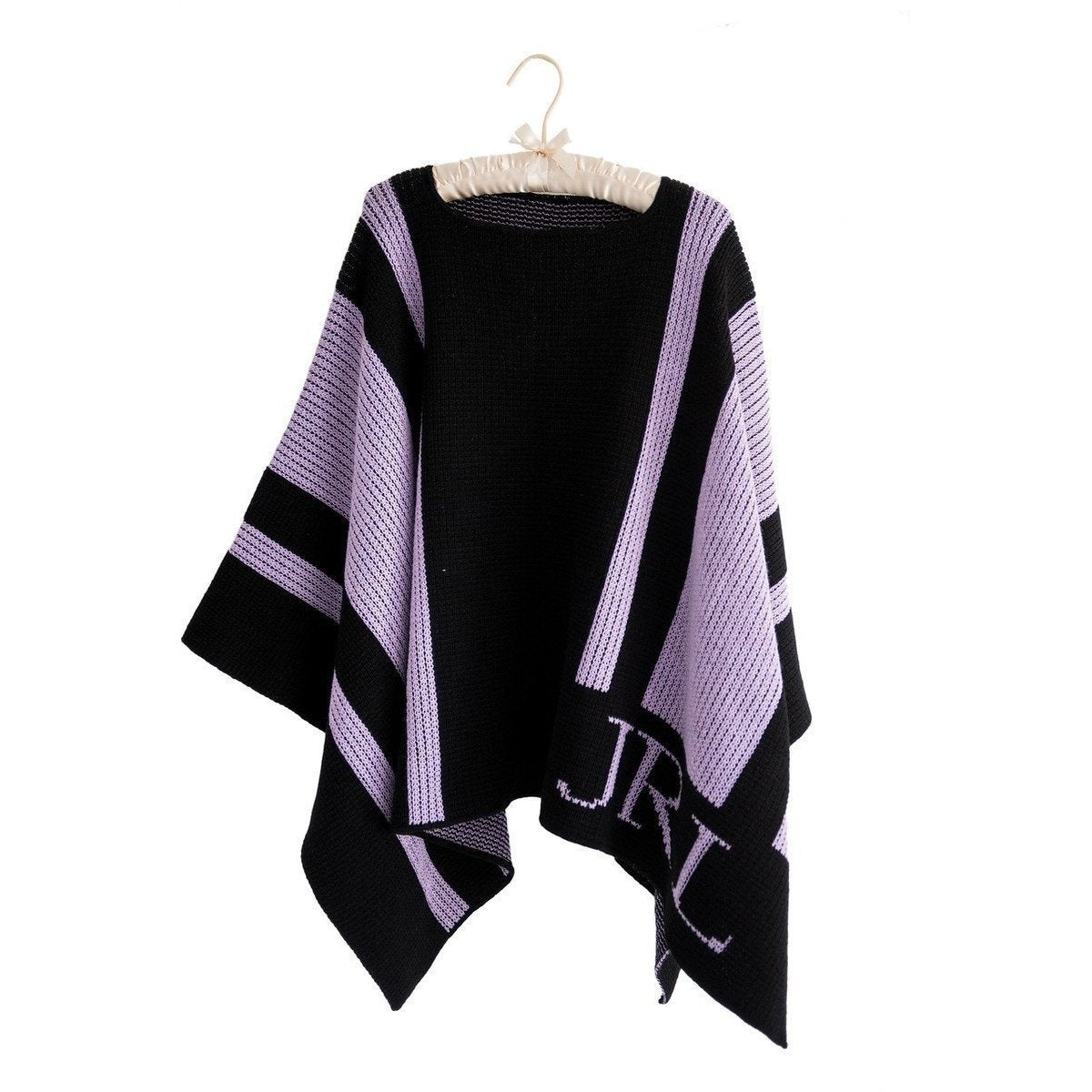 Striped Personalized Blanket Poncho-Poncho-Default-Jack and Jill Boutique