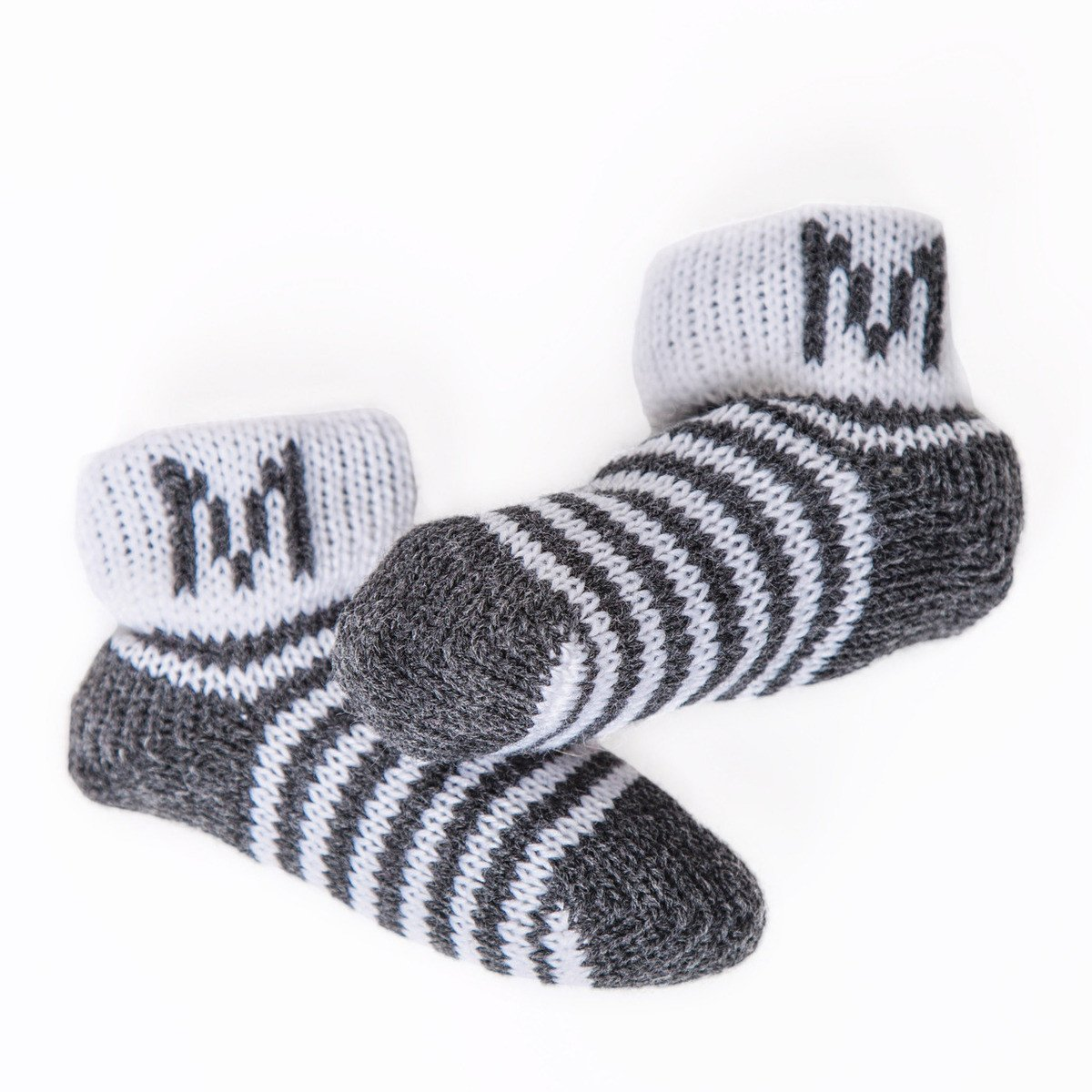 Stripes & Initial Personalized Booties-Booties-Default-Jack and Jill Boutique