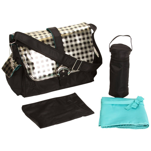 Style 2960 Harlequin Matte Coated Buckle Diaper Bag-Diaper Bags-Jack and Jill Boutique
