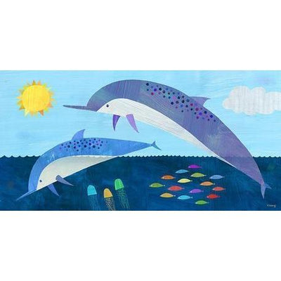 Sunshine Dolphin Dive | Canvas Wall Art-Canvas Wall Art-Jack and Jill Boutique