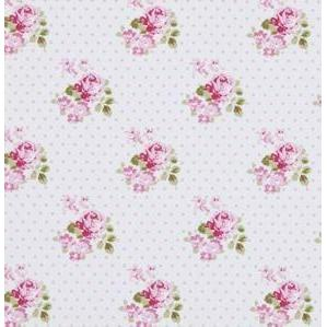Sunshine Rose Pink Blue Skies Fabric | 100% Cotton