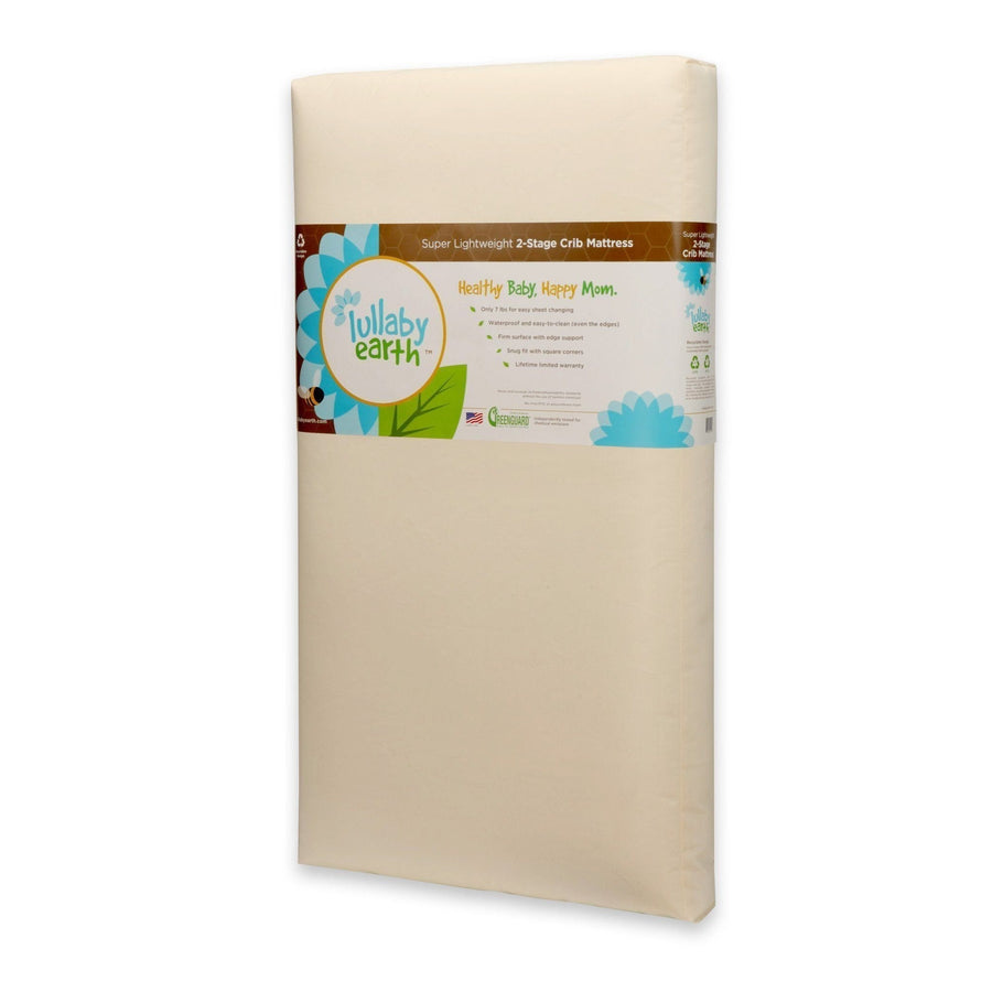 Super Lightweight Beige Crib Mattress 2-Stage
