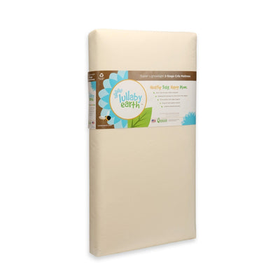 Super Lightweight Beige Crib Mattress 2-Stage-Crib Mattress-Default-Jack and Jill Boutique