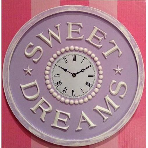 Sweet Dreams Wall Clock-Wall Clock-Jack and Jill Boutique