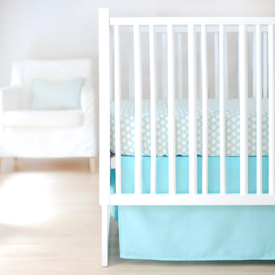 Sweet & Simple Aqua Baby Bedding Set