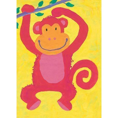 Swinging monkey | Canvas Wall Art-Canvas Wall Art-Jack and Jill Boutique