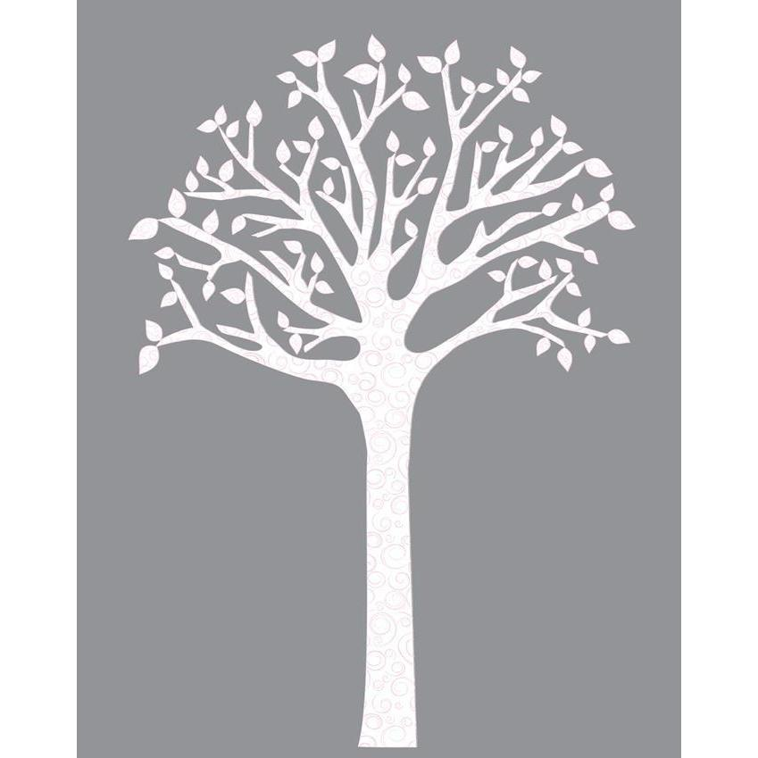 Swirl Tree Fabric Decal-Decals-One Size-Jack and Jill Boutique