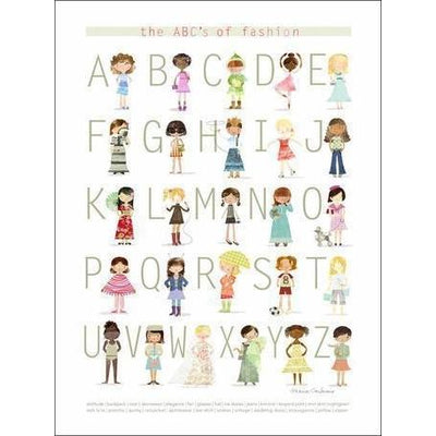 The ABC's of Fashion | Canvas Wall Art-Canvas Wall Art-Jack and Jill Boutique