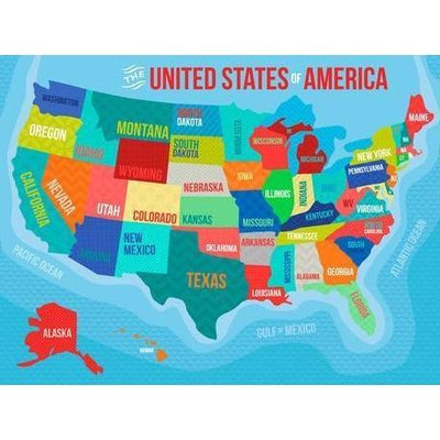 The United States Of America | Canvas Wall Art-Canvas Wall Art-Jack and Jill Boutique