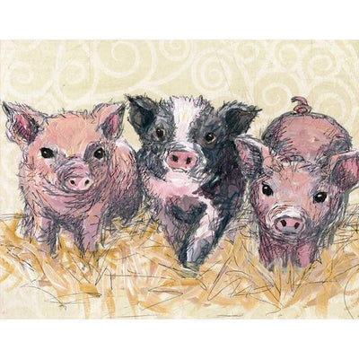 Three Piglets | Canvas Wall Art-Canvas Wall Art-Jack and Jill Boutique