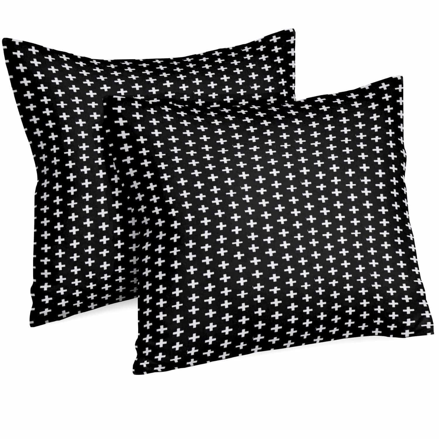 Throw Pillow | Black and White Swiss Cross-Pillow-Jack and Jill Boutique