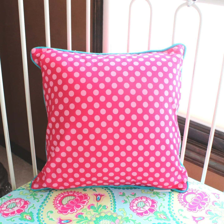 Throw Pillow Cover and Insert | Confection Dots-Square Pillows-Jack and Jill Boutique