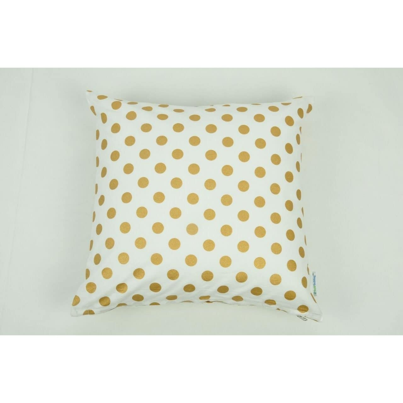 Throw Pillow Cover | Medium Metallic Gold Dots-Square Pillows-Jack and Jill Boutique