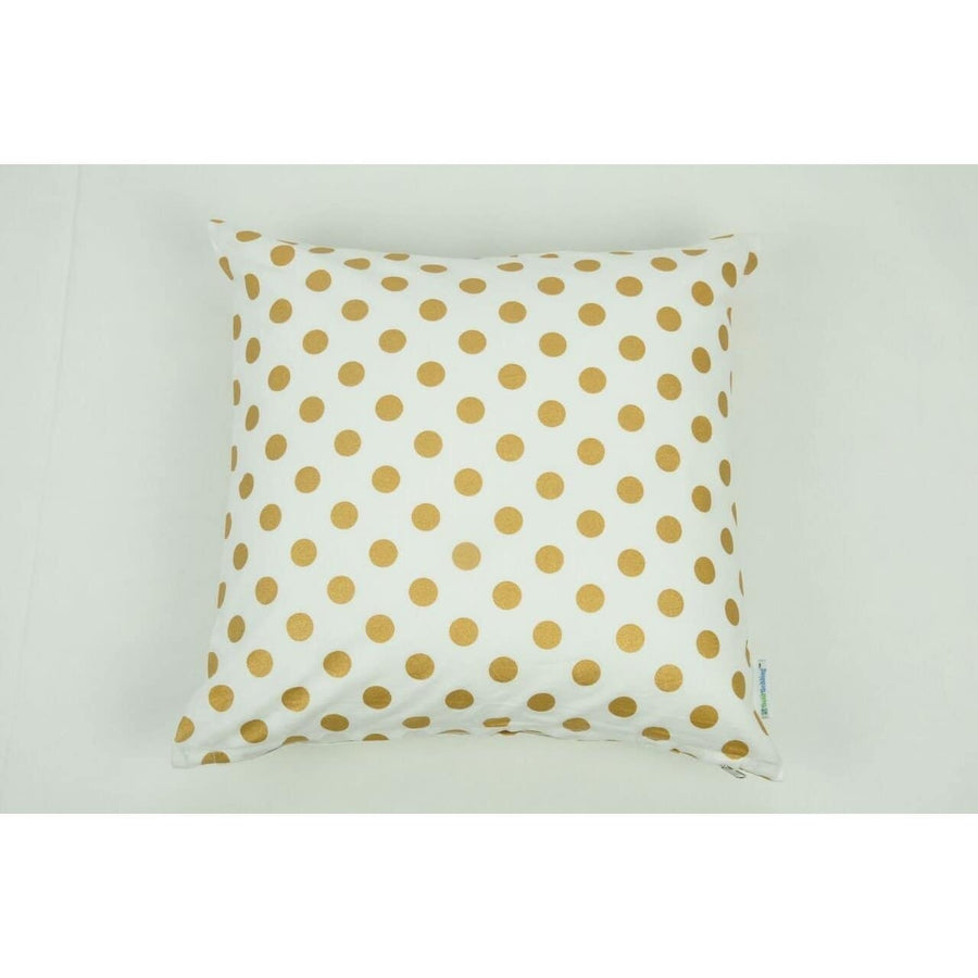 Throw Pillow Cover | Medium Metallic Gold Dots