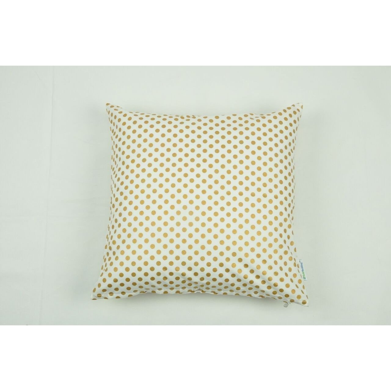 Throw pillow cover metallic gold dots square pillows jack and jill boutique