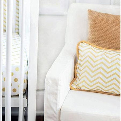 Throw Pillow | Gold Burst Metallic Chevron-Pillow-Jack and Jill Boutique