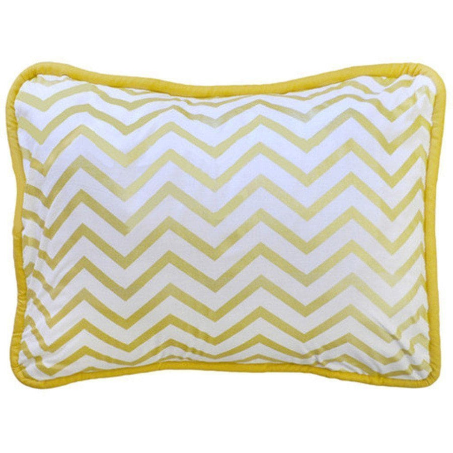 Throw Pillow | Gold Burst Metallic Chevron
