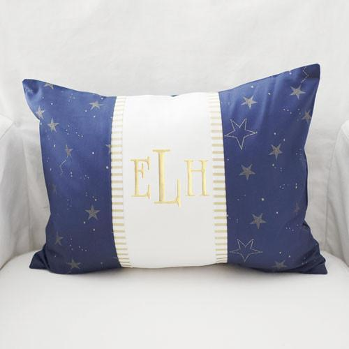 Decorative Pillows For Crib : Throw Pillow Lucky Stars in Navy ? Jack and Jill Boutique