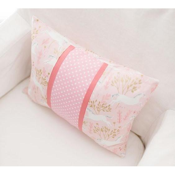 Throw Pillow | Unicorn in Pink-Pillow-Jack and Jill Boutique