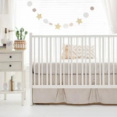 Neutral Oatmeal Crib Bedding Set-Crib Bedding Set-Jack and Jill Boutique