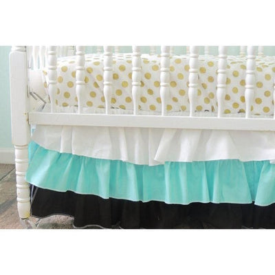 Tiered Baby Bedding | Black, Aqua Crib Bedding Set-Crib Bedding Set-Default-Jack and Jill Boutique