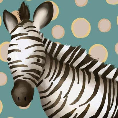 Timmy the Zebra | Canvas Wall Art-Canvas Wall Art-Jack and Jill Boutique