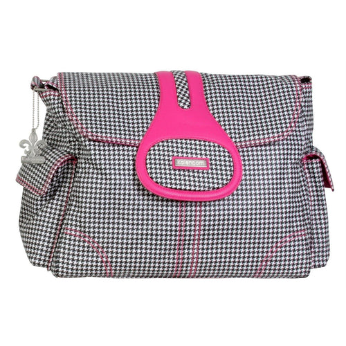 Tiny Houndstooth Elite Matte Coated Diaper Bag | Style 2975 - Kalencom-Diaper Bags-Jack and Jill Boutique