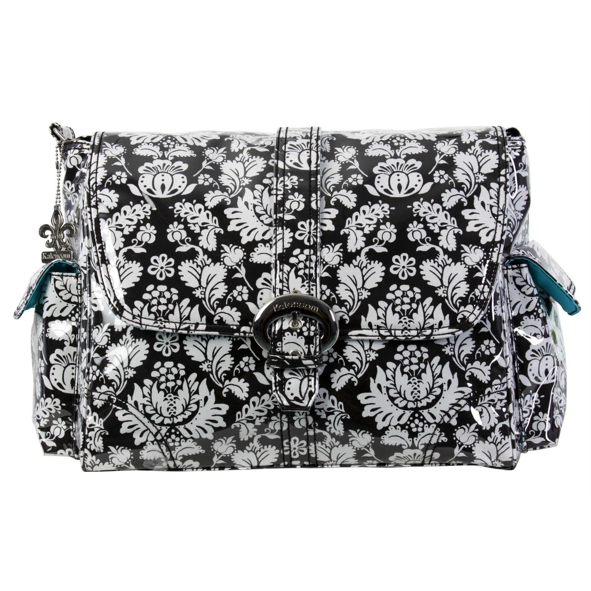 Toile Black & White Laminated Buckle Diaper Bag | Style 2960 - Kalencom-Diaper Bags-Jack and Jill Boutique