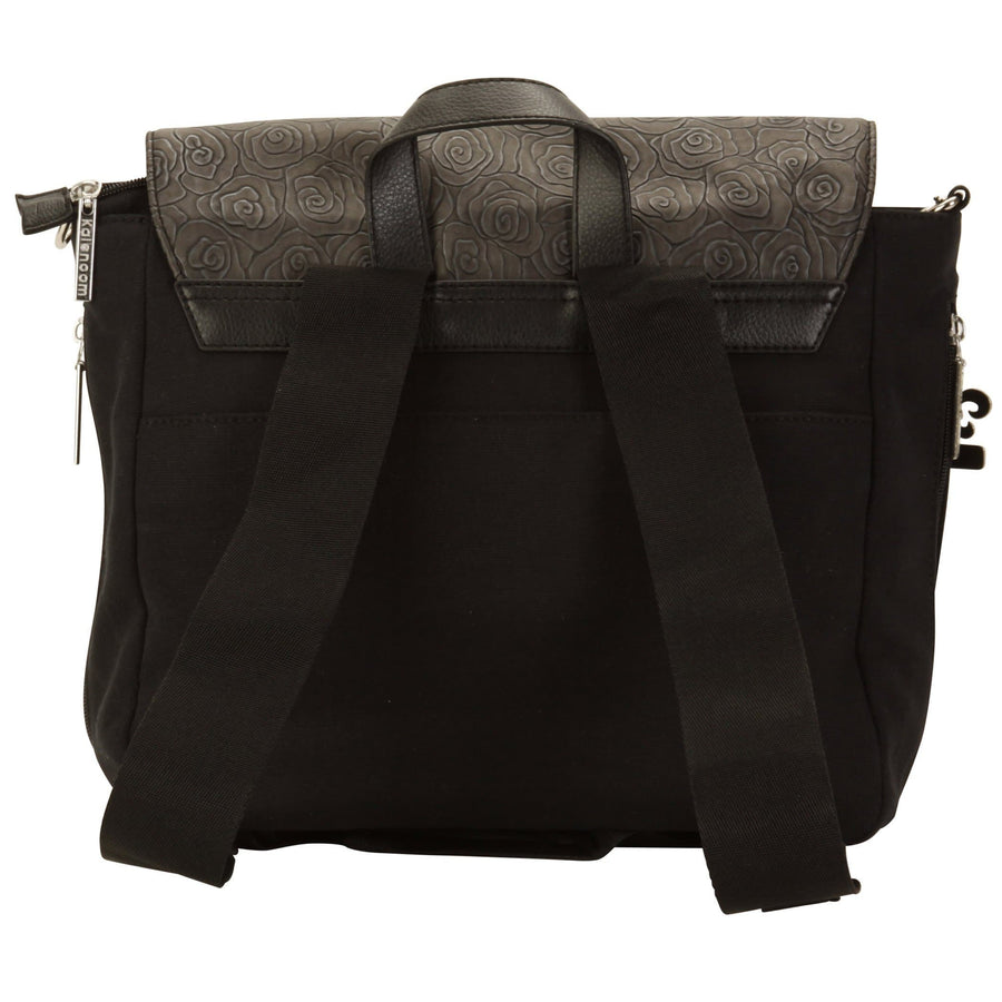 Tokyo - Rosebuds Black Diaper Bag | Style 2999 - Kalencom-Diaper Bags-Default-Jack and Jill Boutique