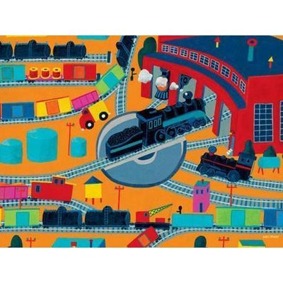 Train Roundhouse | Canvas Wall Art-Canvas Wall Art-Jack and Jill Boutique