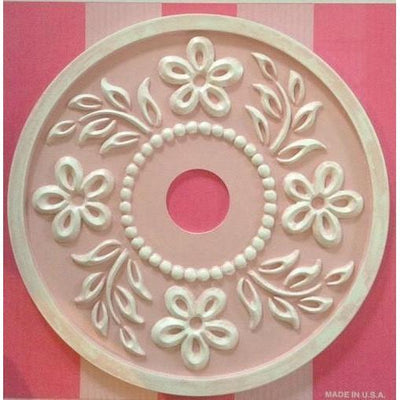 Tropical Hibiscus Ceiling Medallions-Medallions-Jack and Jill Boutique