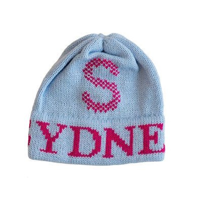 Tweed Initial Personalized Knit Hat-Hats-Jack and Jill Boutique