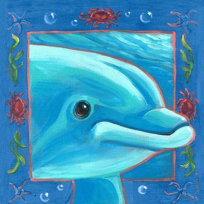 Underwater Dolphin | Canvas Wall Art-Canvas Wall Art-Jack and Jill Boutique