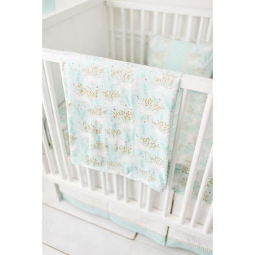 Unicorn in Mint Crib Baby Bedding Set