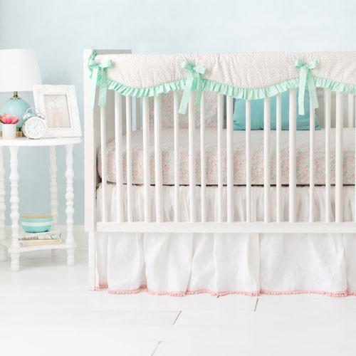 Unicorn Magic Folk in Aqua Baby Bedding Set-Crib Bedding Set-Jack and Jill Boutique