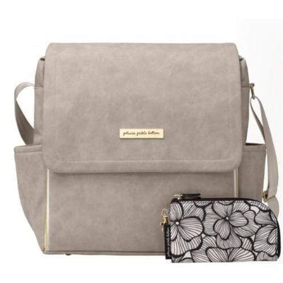 Boxy Backpack Diaper Bags | Petunia Pickle Bottom-Diaper Bags-Grey Matte Leatherette-Jack and Jill Boutique
