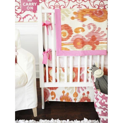 Urban Ikat in Pink Baby Bedding Set-Crib Bedding Set-Default-Jack and Jill Boutique